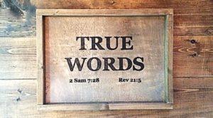 true words christian church logo