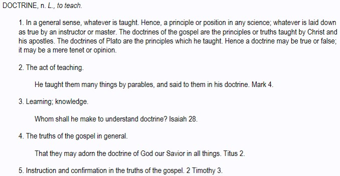 definition of doctrine