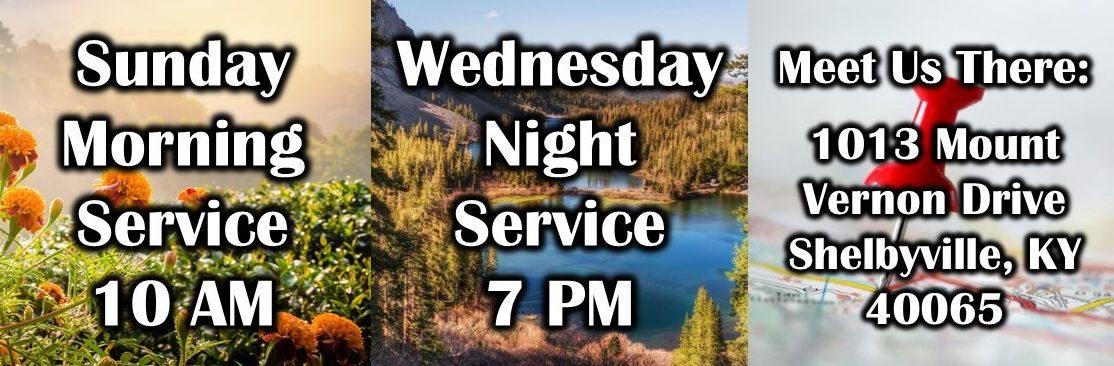 true words christian church service times